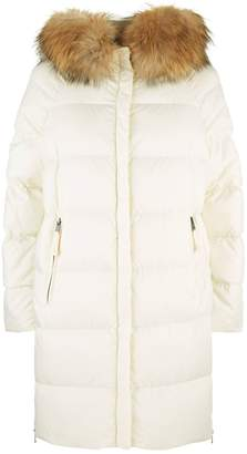 Max Mara Quilted Fur Collar Jacket