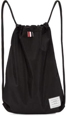 Thom Browne Black Nylon Drawcord Backpack