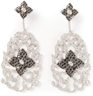 Elise Dray diamond floral pavé earrings