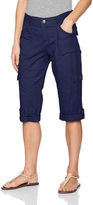 Lee Women's Relaxed Fit Skye Knit Waist Cargo Capri Pant