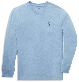 Polo Ralph Lauren Boys' Long-Sleeve Cotton Tee - Big Kid