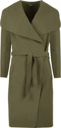 WearAll Women's Long Belt Pocket Open Coat Celebrity Waterfall Jacket Cape