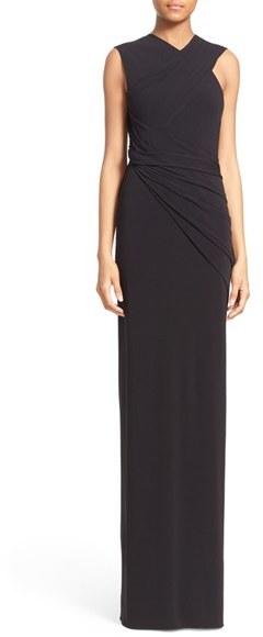 Alexander WangWomen's Alexander Wang Back Cutout Asymmetrical Draped Gown