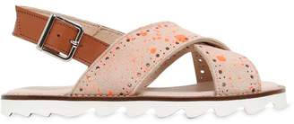 Printed Nappa Leather Sandals