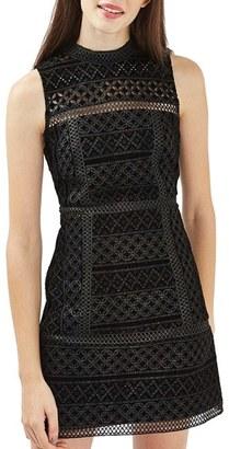 Topshop Cutout Velvet Shift Dress $190 thestylecure.com