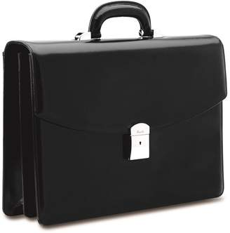 Pineider Double Compartment Leather Briefcase