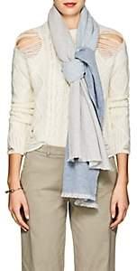 Barneys New York Women's Colorblocked Cashmere Scarf - Gray