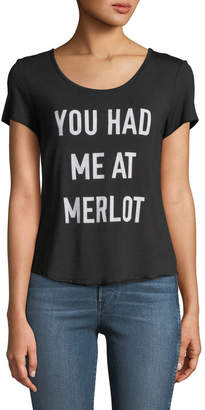 Knit Riot You Had Me At Merlot Short-Sleeve Graphic Tee
