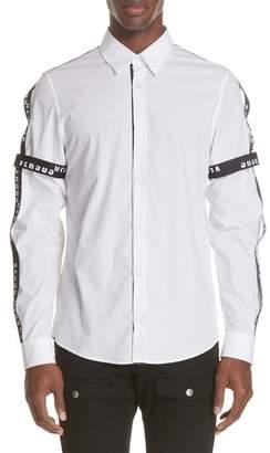 Versace Stripe Trim Woven Shirt