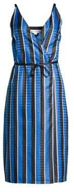 Robert Rodriguez Striped Wrap Dress