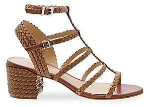 40454de00f0 Schutz Women s Rosalia Braided Leather Gladiator Sandals