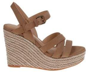 Splendid Billie Leather Espadrille Wedge Sandals