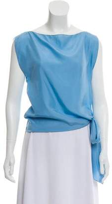 Vionnet Tie-Detail Silk Top