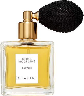 Shalini Parfum Jardin Nocturne Cubique Glass Bottle with Black Bulb Atomizer, 1.7 oz./ 50 mL