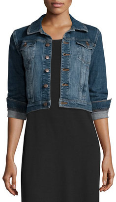 Eileen Fisher Denim Cropped Jacket $218 thestylecure.com