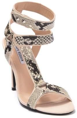 Cape Robbin Diva Snake Print Stiletto Heel Sandal