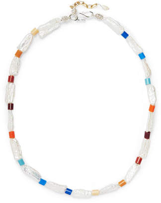 WALD Berlin - Genie In A Bottle Pearl And Beaded Necklace - White