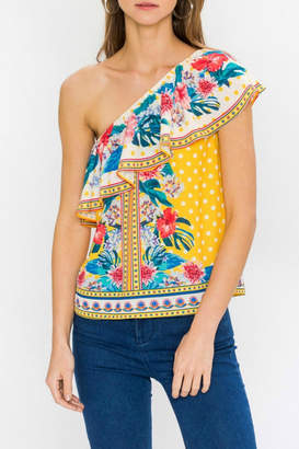 Flying Tomato Ayana One-Shoulder Top