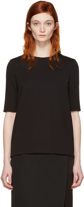 Lanvin Black Short Sleeve Blouse $1,145 thestylecure.com