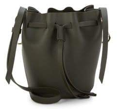 Zac Posen Belay Mini Drawstring Leather Bucket Bag