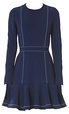 Carolina Herrera Women's Long-Sleeve Ruffle Dress