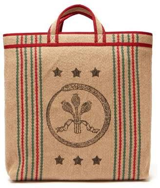 25a1eeb30b7 Gucci Ouroboros Print Jute Tote Bag - Mens - Beige