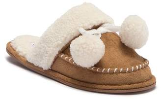 Jessica Simpson Micro-Suede Marshmallow Faux Shearling Lined Slipper