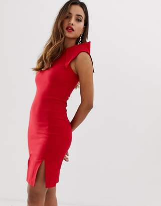 Bardot Vesper split front bodycon dress