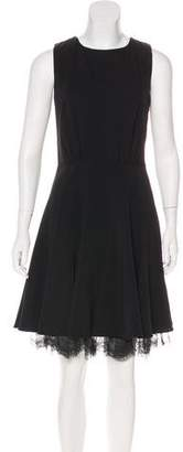 Oscar de la Renta Lace-Trimmed Mini Dress w/ Tags