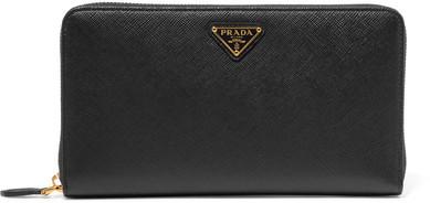 pradaPrada - Travel Textured-leather Continental Wallet - Black