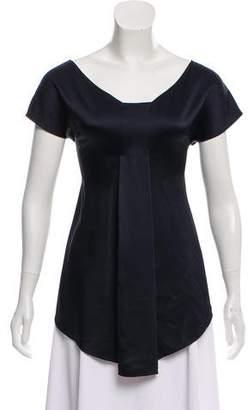 The Row Short Sleeve Asymmetrical Top