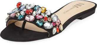 Neiman Marcus Star Crystal Sandals