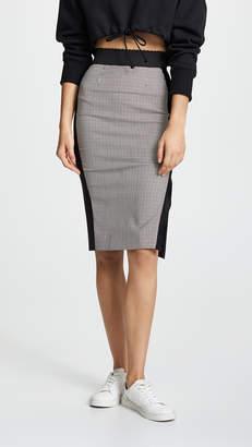 Moschino Two Tone Plaid Skirt