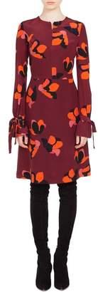Akris Punto Anemone Print Silk Dress