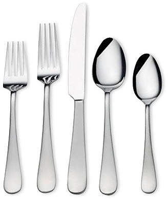 Mikasa 18/0 Stainless Steel 20-Pc. Satin Symmetry Flatware Set, Service for 4