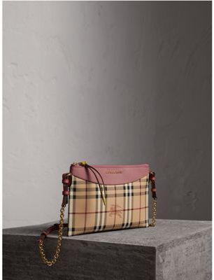 Burberry Haymarket Check and Two-tone Leather Clutch Bag $575 thestylecure.com