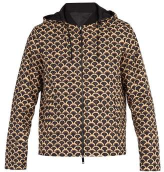 Valentino Scale Print Reversible Jacket - Mens - Brown Multi
