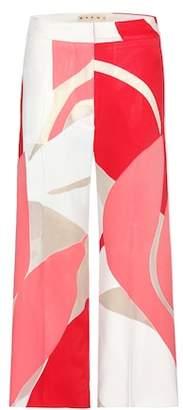 Marni Printed wide-leg trousers