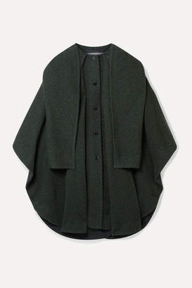See by Chloe Oversized Wool-blend Twill Cape-effect Coat - Green