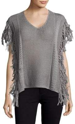 Leo & Sage V-Neck Rib-Knit Top