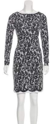 MICHAEL Michael Kors Long Sleeve Printed Mini Dress