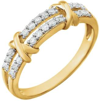 South Beach Diamonds 0.76 ct Ladies Round Cut Diamond 2 Tone Anniversary Rin in 18 kt White old In Size 10