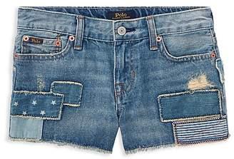 Polo Ralph Lauren Girls' Patchwork Denim Shorts - Big Kid