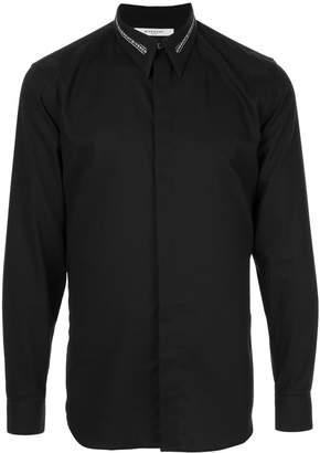 Givenchy logo collar slim-fit shirt