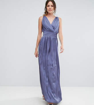 Little Mistress Tall Wrap Front Strappy Maxi Dress