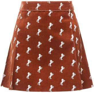 Chloé horse print mini skirt