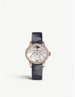 Girard Perregaux Girard-Perregaux 80485D52A751-CK4A Cat's Eye Bi-Retro rose-gold, stainless steel, diamond and alligator leather watch