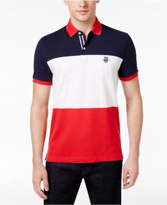 Tommy Hilfiger Men's Custom Fit Colorblocked Polo $69.50 thestylecure.com