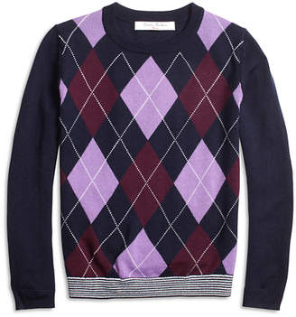 Brooks Brothers Girls Merino Wool Blend Argyle Sweater