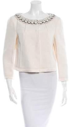 Alberta Ferretti Long Sleeve Embellished Jacket